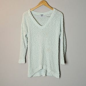 Charlotte Russe Green V Neck Sweater sz Large